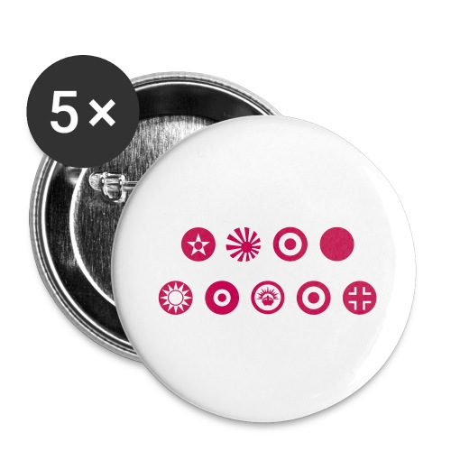 Axis & Allies Country Symbols - One Color - Buttons large 2.2'' (5-pack)