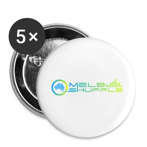 Melbshuffle Gradient Logo - Buttons large 2.2'' (5-pack)