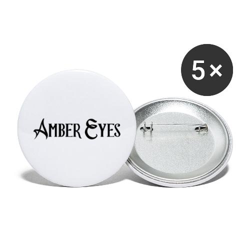 AMBER EYES LOGO IN BLACK - Buttons large 2.2'' (5-pack)