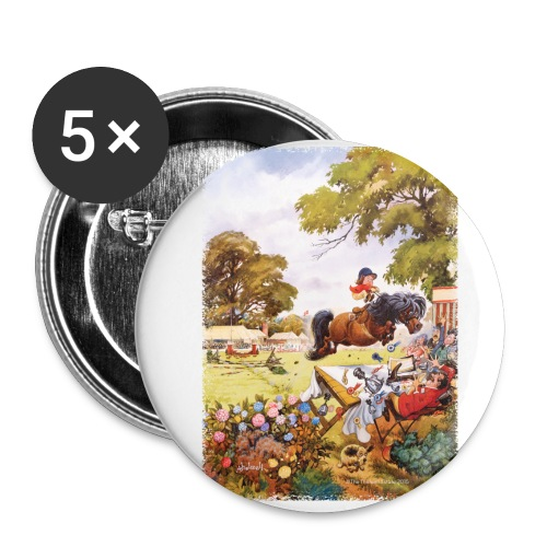PonyTournament Thelwell Cartoon - Buttons large 2.2'' (5-pack)