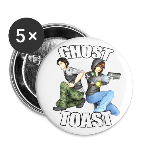 Ghost Toast - Buttons large 2.2'' (5-pack)