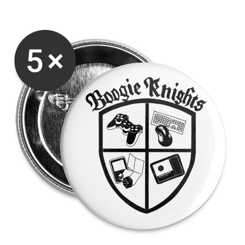 boogieknightswhite600 - Buttons large 2.2'' (5-pack)