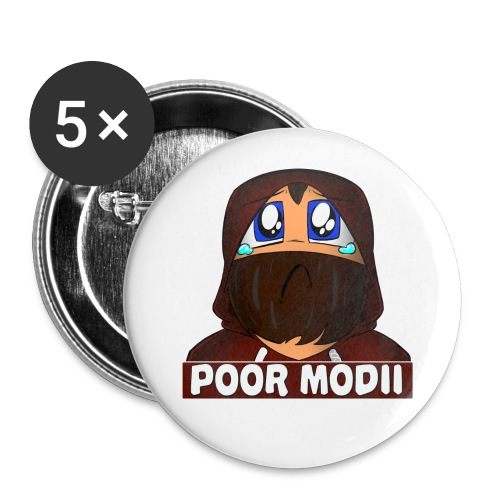 poor modii - Buttons large 2.2'' (5-pack)