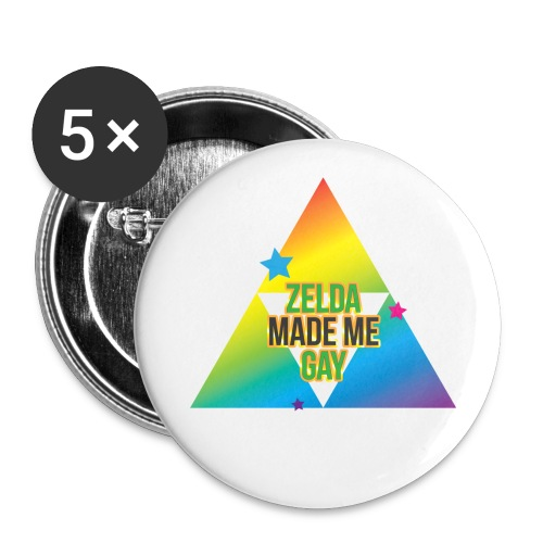 Zelda Made Me Gay - Buttons large 2.2'' (5-pack)