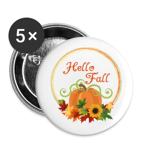 hello fall - Buttons large 2.2'' (5-pack)