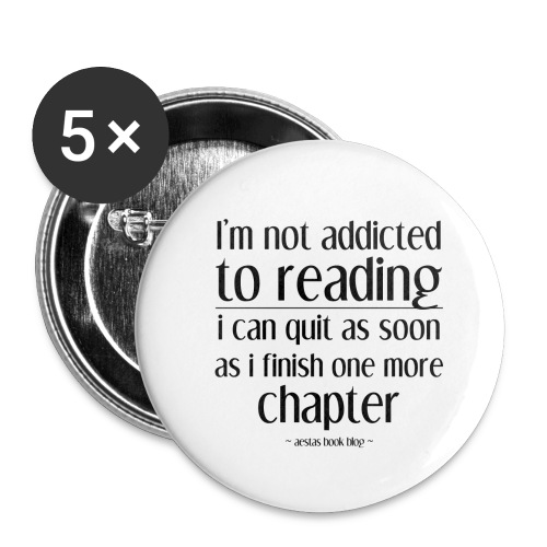 addicted png - Buttons large 2.2'' (5-pack)