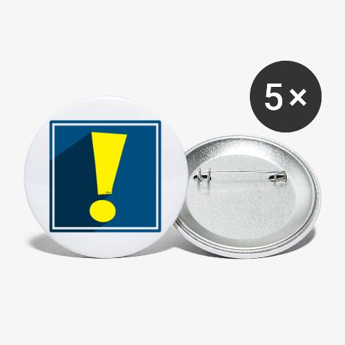 Whee Shadow Exclamation Point - Buttons large 2.2'' (5-pack)
