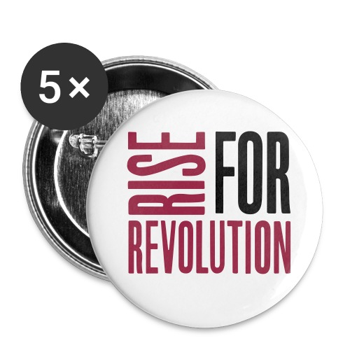 rise for rev logo - Buttons large 2.2'' (5-pack)