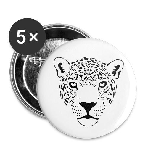 jaguar cougar cat puma panther leopard cheetah - Buttons large 2.2'' (5-pack)