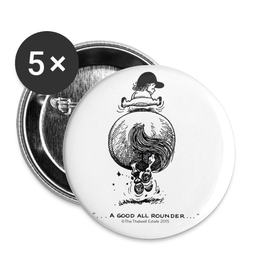 PonyGalopp Thelwell Cartoon - Buttons large 2.2'' (5-pack)