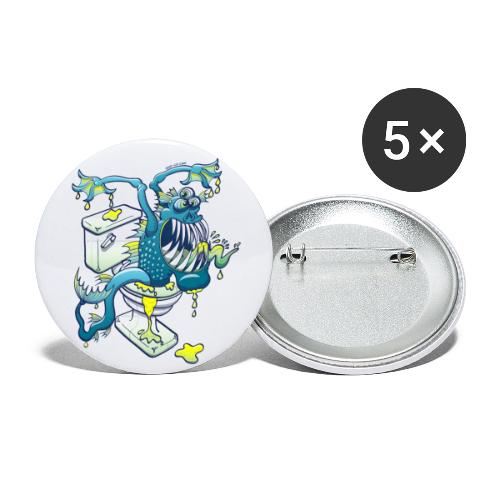 Toilet Monster - Buttons large 2.2'' (5-pack)