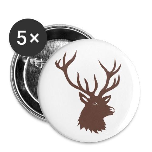 stag deer moose elk antler antlers horn horns buck - Buttons large 2.2'' (5-pack)