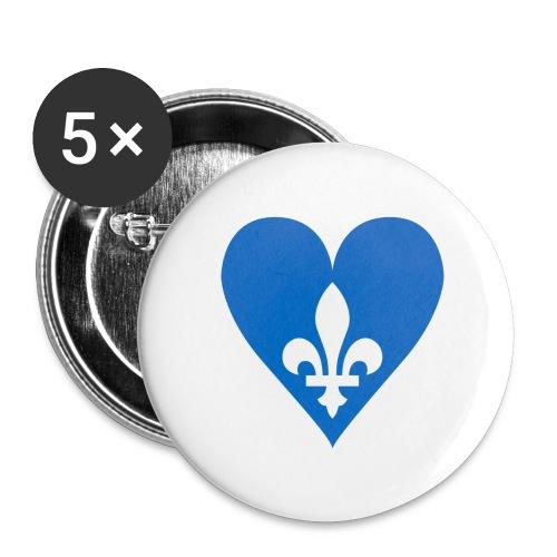 Coeur Québec - Buttons large 2.2'' (5-pack)