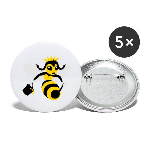 Queen Bee - Buttons large 2.2'' (5-pack)