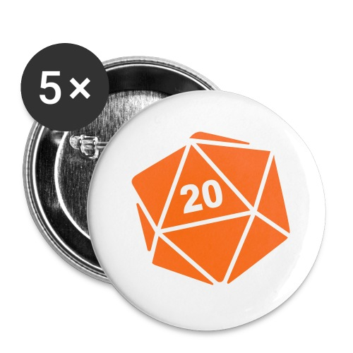 D20 Winter Toque - Buttons large 2.2'' (5-pack)