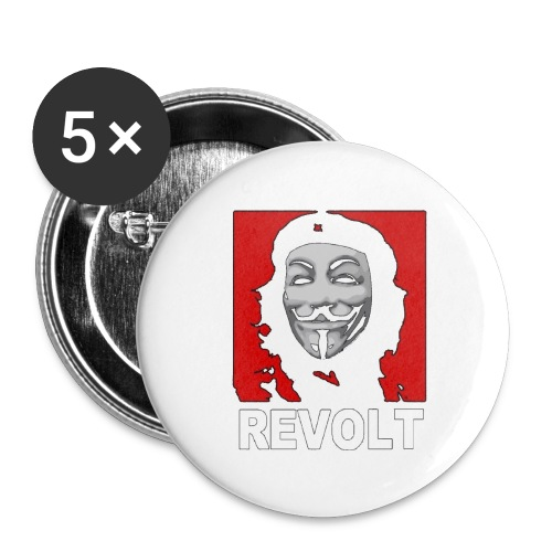 Anonymous Che Revolt Mugs & Drinkware - Buttons large 2.2'' (5-pack)