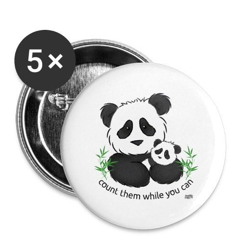 SnuggleCoats_panda - Buttons large 2.2'' (5-pack)
