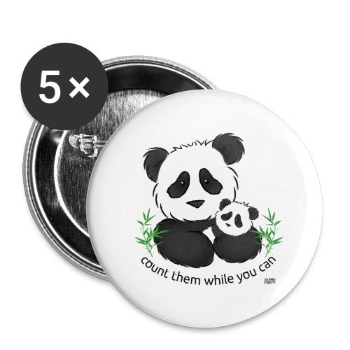 SnuggleCoats_panda - Buttons large 2.2'' (5-pack)