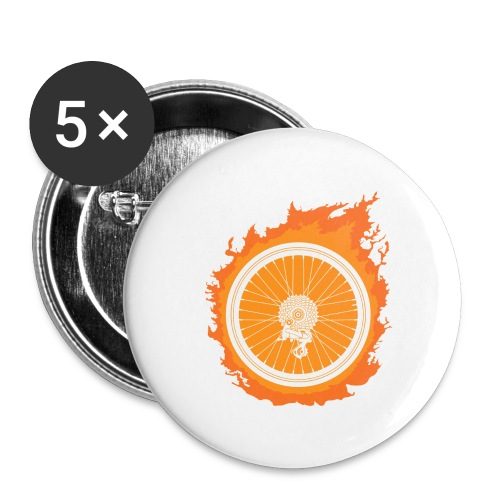 Bike Fire - Buttons large 2.2'' (5-pack)