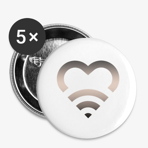 I Heart Wifi IPhone Case - Buttons large 2.2'' (5-pack)