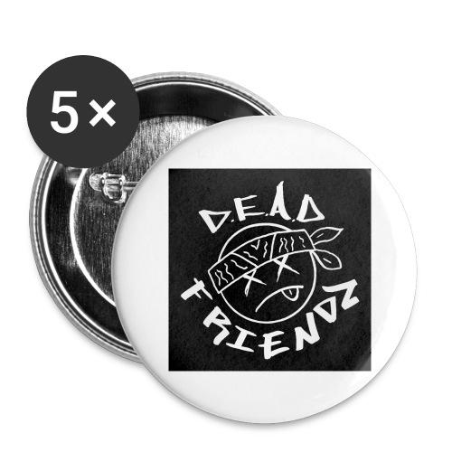 D.E.A.D FRIENDZ Records - Buttons large 2.2'' (5-pack)