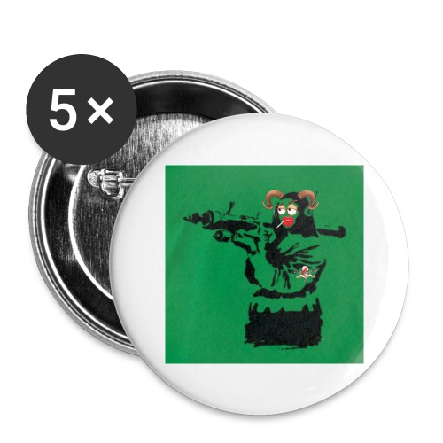 Baskey mona lisa - Buttons large 2.2'' (5-pack)