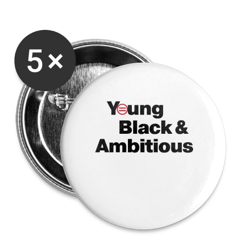 YBA white and gray shirt - Buttons large 2.2'' (5-pack)