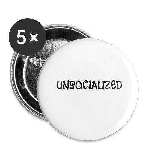 Unsocialized - Buttons large 2.2'' (5-pack)