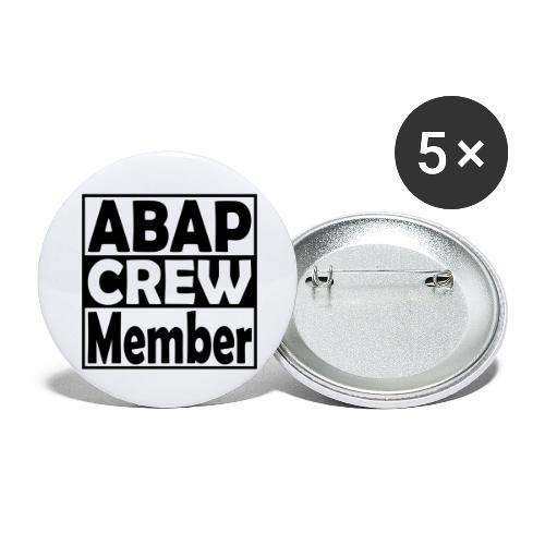 ABAPcrew - Buttons large 2.2'' (5-pack)
