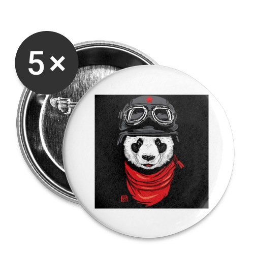 Panda - Buttons large 2.2'' (5-pack)