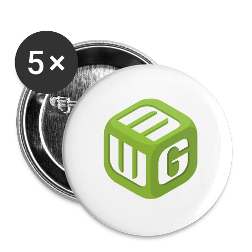 Steve Sized MWG T-Shirt (3XT) - Buttons large 2.2'' (5-pack)