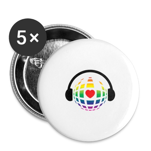 my music world - Buttons large 2.2'' (5-pack)