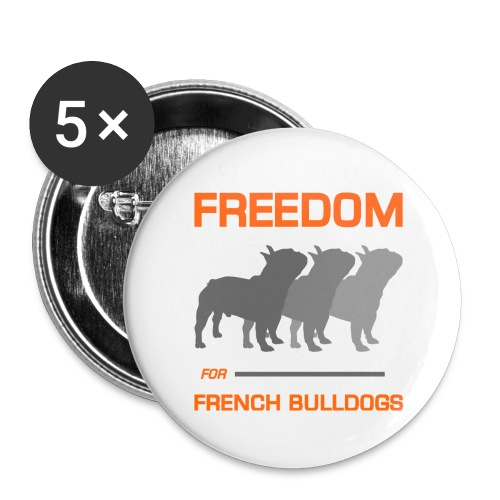French Bulldogs - Buttons large 2.2'' (5-pack)