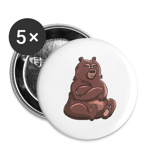 Bear in Contempt T-Shirt - Buttons large 2.2'' (5-pack)