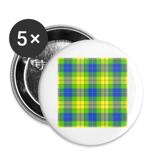 Yellow plaid - Buttons large 2.2'' (5-pack)