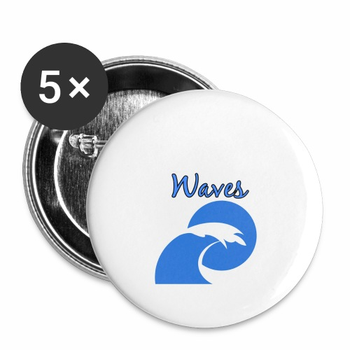 Waves - Buttons large 2.2'' (5-pack)