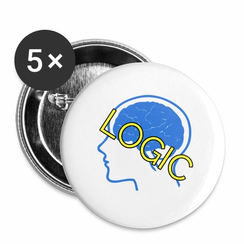 Logic - Buttons large 2.2'' (5-pack)