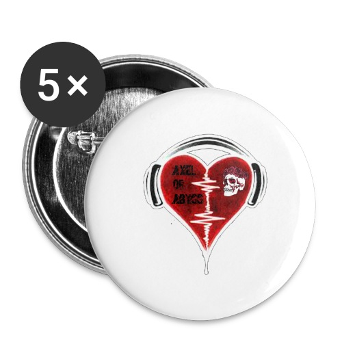 Axelofabyss Music in your heart - Buttons large 2.2'' (5-pack)