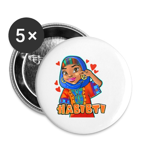 Habibti - Buttons large 2.2'' (5-pack)