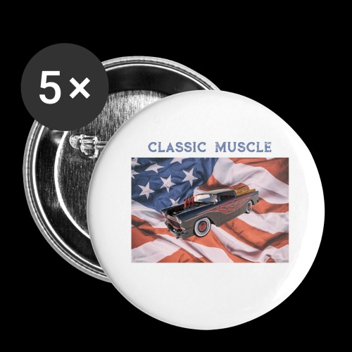 CLASSIC MUSCLE - Buttons large 2.2'' (5-pack)