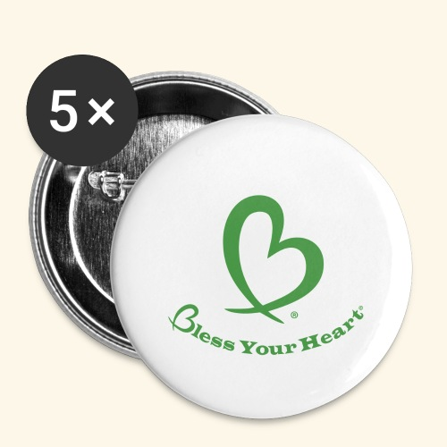 Bless Your Heart® Green - Buttons large 2.2'' (5-pack)
