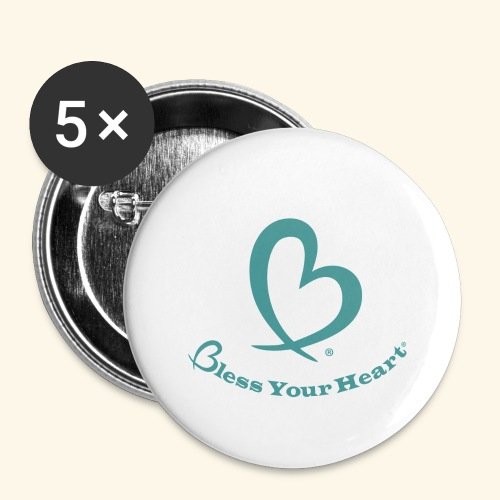 Bless Your Heart® Turquoise - Buttons large 2.2'' (5-pack)