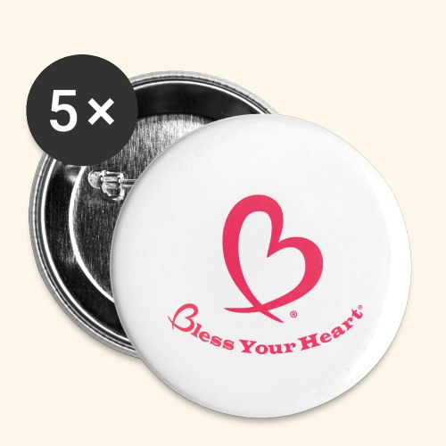 Bless Your Heart® Pink - Buttons large 2.2'' (5-pack)