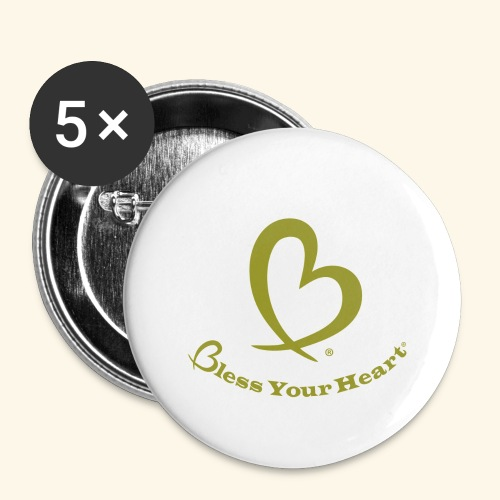 Bless Your Heart® Yellow - Buttons large 2.2'' (5-pack)