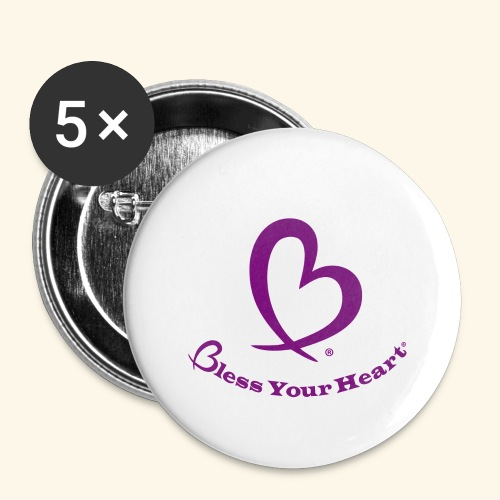 Bless Your Heart® Purple - Buttons large 2.2'' (5-pack)