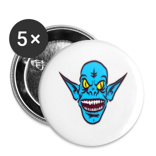 Alien Troll - Buttons large 2.2'' (5-pack)