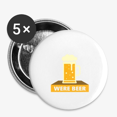 wish you were beer - Buttons large 2.2'' (5-pack)