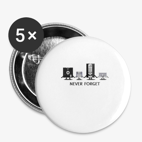 Never forget - Buttons large 2.2'' (5-pack)