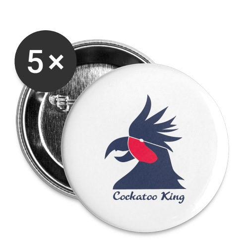 Cockatoo Logo - Buttons large 2.2'' (5-pack)