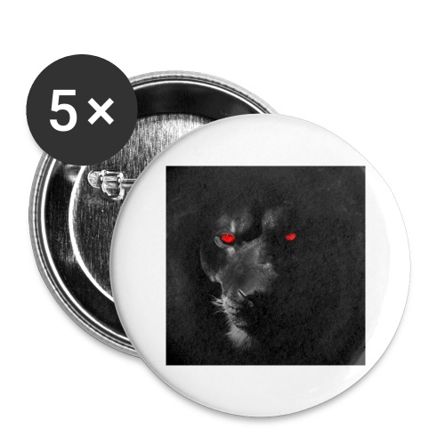 Black ye - Buttons large 2.2'' (5-pack)